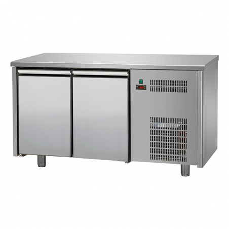 Refrigerated counter 2doors rear riser