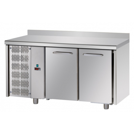 Refrigerated counter 2 doors unit left side