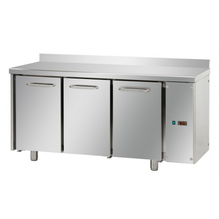Refrigerated counter 3 doors unit on left side