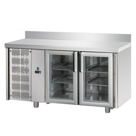 Refrigerated counter 2 glass doors SX group