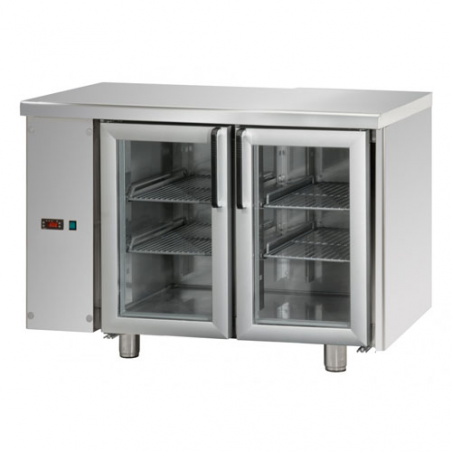 Refrigerated counter 2 glass doors SX group designed for normal temperature remote condensing unit