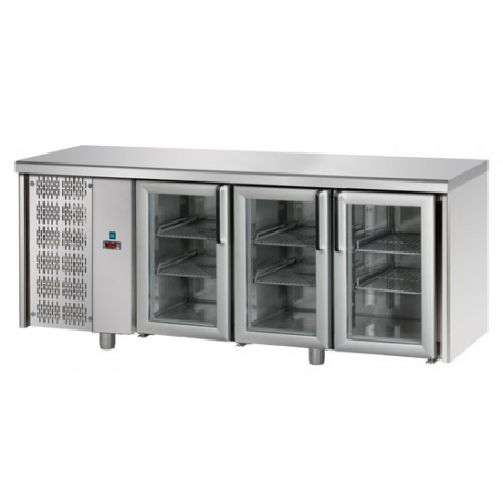 Refrigerated counter 3 glass doors SX group