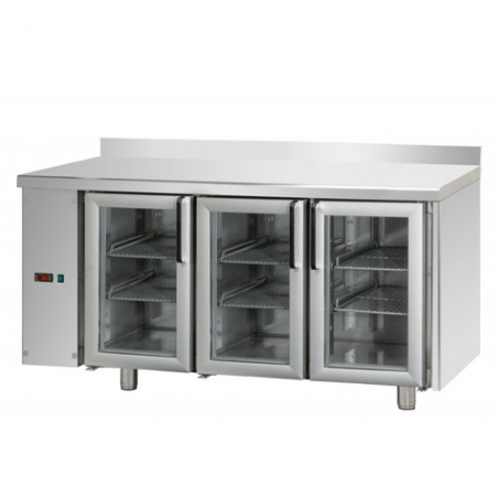 Refrigerated counter 3 glass doors SX group designed for normal temperature remote condensing unit