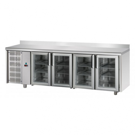 Refrigerated counter 4 glass doors SX group