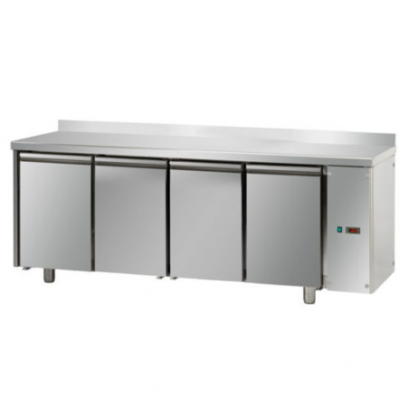 Refrigerated pastry counter with 4 doors predisposed for remote refrigerating units