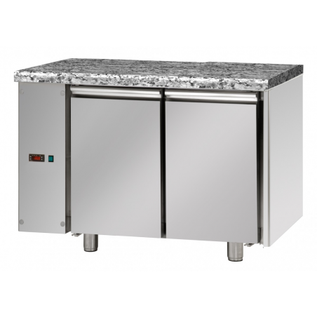 Refrigerated pastry counter 2 doors predisposed for remote refrigerating units on the left side
