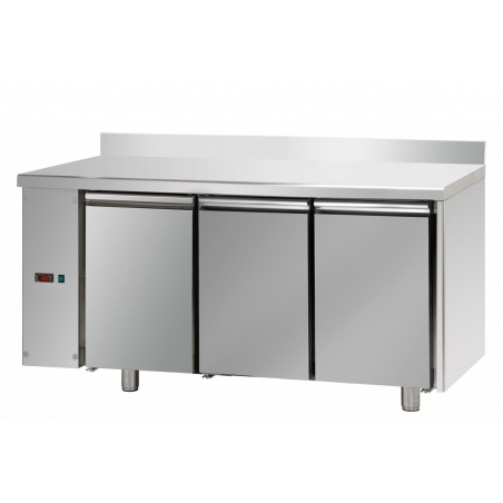 Refrigerated pastry counter with 3 doors left series predisposed for remote refrigerating units