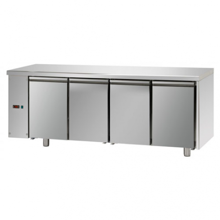 Refrigerated pastry counter with 4 doors left series predisposed for remote refrigerating units
