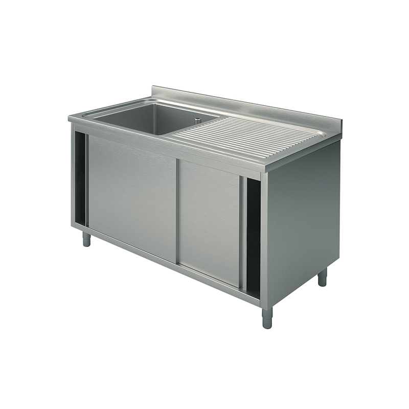Cupboard sinks with sliding doors 100x70x90