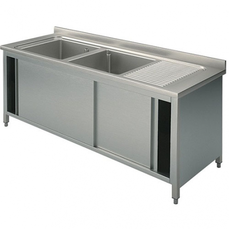 Cupboard sinks with sliding doors 140X70X90
