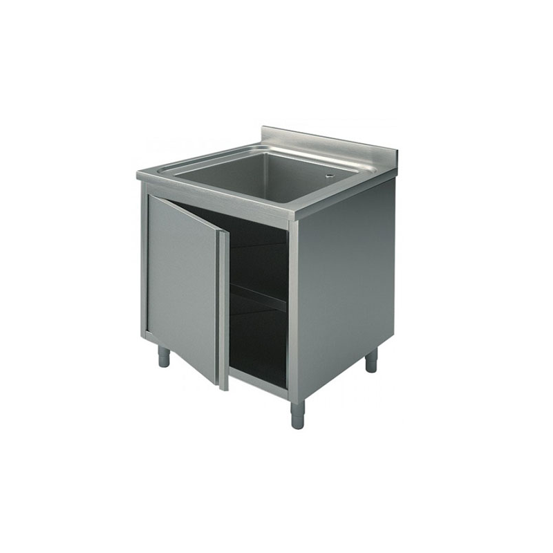 Cupboard sinks with swing doors 60x60x90
