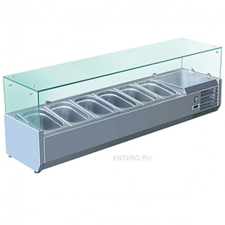 Refrigerated showcase holding condiments 200 cm