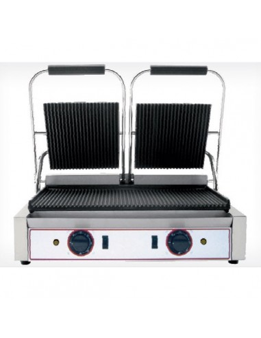 Double iron cast grill
