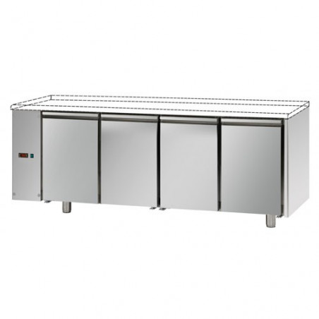 Refrigerated counter 2 doors predisposed for remote refrigerating units