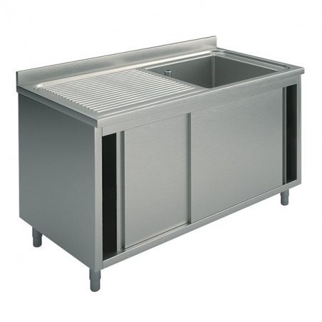 Cupboard sinks with sliding doors 100X60X90