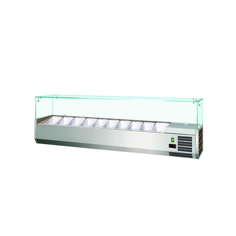 Refrigerated showcase holding condiments 180 cm