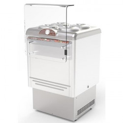 Banco gelateria 4 carapine inox