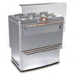 Banco gelateria 6 carapine inox