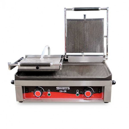 Contact grill double striped