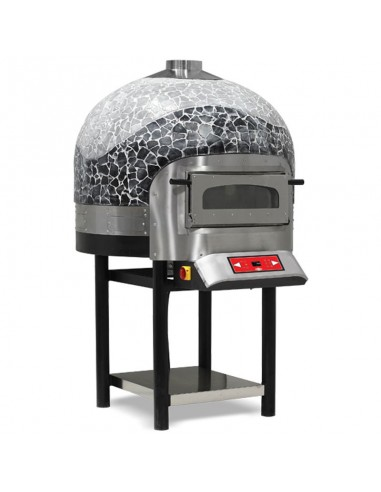 Professional electric oven rotating 6 pizzas