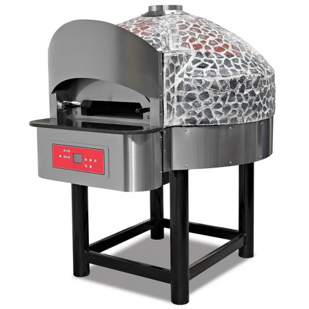 Professional oven with rotating GAS 6 pizzas
