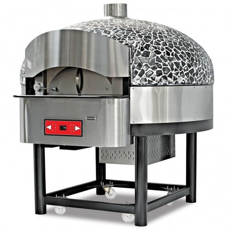 Professional oven with rotating GAS 9 pizzas