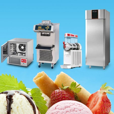 Stock Equipment Ice Cream Shop