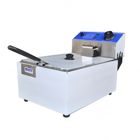 Professional electric fryer with a 6-liter tank