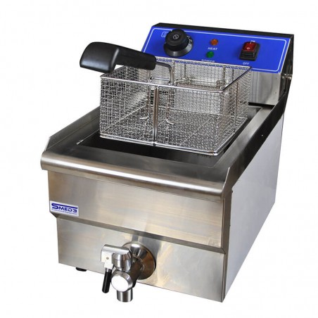 Professional fryer with a 10-liter tank
