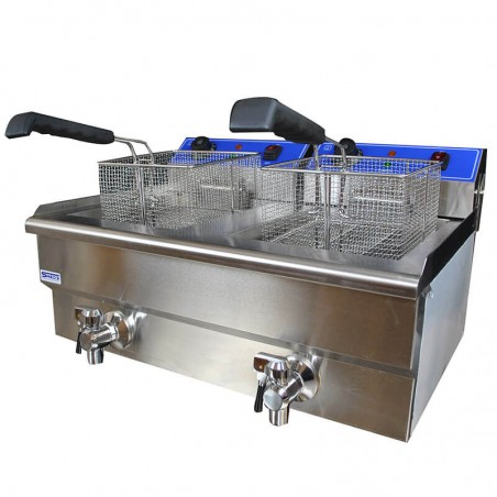 Professional fryer with 2 tanks 10+10 liters