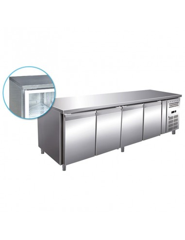 Refrigerated table 4 doors 522 Liter
