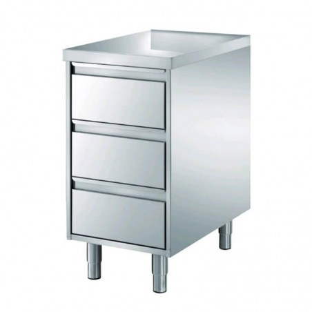 Gastronorm chest of 3 drawers