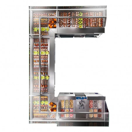 Refrigerated display showcase from 1600 mm
