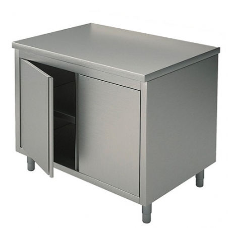 Cupboard tables with swing doors 70x70x90