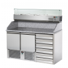 pizza preparation counter at a low price, marble top