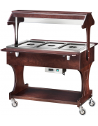 Buffet trolley with heating
