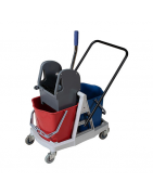 Mop wringer cleaning trolley