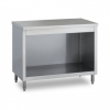 Commercial work table with open cupboard