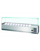Refrigerated showcase for ingredients