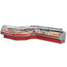 Refrigerated counters with static cooling