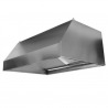 Wall-mounted cooker hood, without motor