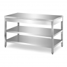 Table with double bottom shelf