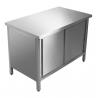 Heated cupboard table